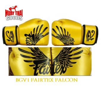 FAIRTEX FALCON BOXING GLOVES AUTHENTIC GOLD LIMITED EDITION