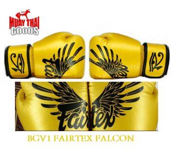 FAIRTEX FALCON BGV1 LIMITED EDITION ORIGINAL AUTHENTIC GOLD EAGLE MUAY THAI GOODS