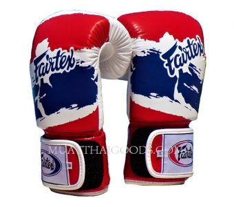 FAIRTEX MUAY THAI KICK BOXING GLOVES THAILAND FLAG BGV1