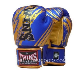 TWINS SPECIAL BOXING GLOVES FBGV TW2 Blue Gold
