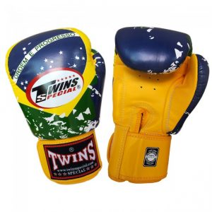 FBGV44 - BRAZIL FLAG - TWINS SPECIAL BOXING - MUAY THAI GLOVES