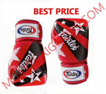 FAIRTEX BGV1 BOXING GLOVES NATION PRINTS STAR UNIVERSAL RED