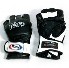 Fairtex MMA Grappling Gloves UFC FGV 12  Black White