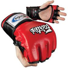Fairtex MMA Grappling Sparring Gloves UFC FGV 12 Red