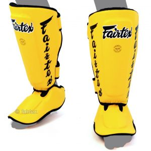 Fairtex Shin Guards Pads SP7 Yellow