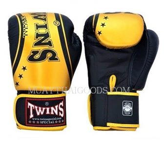 TWINS SPECIAL TW4 Boxing Gloves Classic Gold - MUAY THAI GLOVES AUTHENTIC MADE IN LEATHER