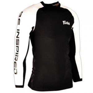 Fairtex Black-White Long Sleeve Rash Guard RG1