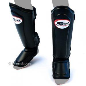 Twins Special Double Padded Shin guards Leather  Protection SGL10