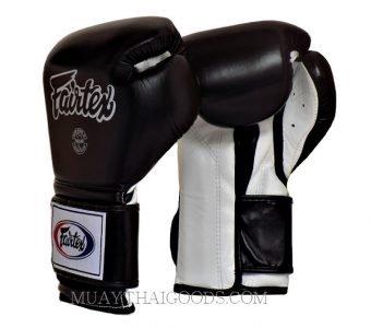 BGV9 Fairtex Boxing Gloves Mexican Style Black White