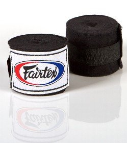 FAIRTEX HAND WRAPS BLACK HW2 SEMI-ELASTIC