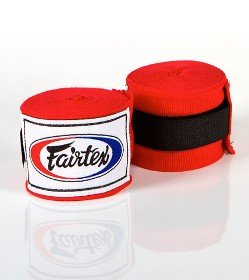 FAIRTEX HAND WRAPS RED HW2 SEMI-ELASTIC