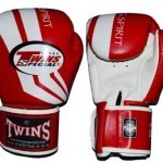 FBGV43 - TWINS SPECIAL BOXING - RED WHITE - FIGHTING SPIRIT - MUAY THAI GLOVES