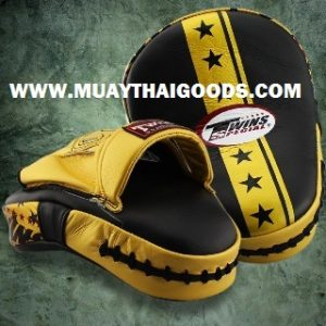 TWINS FOCUS PUNCHING MITTS PML 10 STAR EDITION GOLD