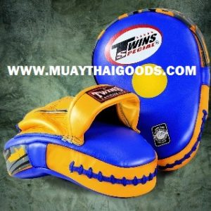 TWINS FOCUS PUNCHING MITTS PML 10 BLUE YELLOW