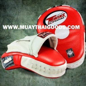 TWINS FOCUS PUNCHING MITTS RED WHITE PML 10