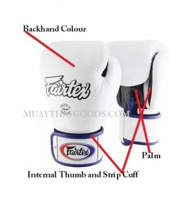 CUSTOM HAND MADE MUAY THAI GLOVES BY FAIRTEX BGV1 TRIPLE TONE