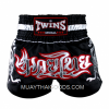 TWINS NEW MUAY THAI SHORTS BLACK T153