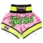 TWINS SPECIAL MUAY THAI BOXING SHORTS FIGHT GIRL PINK