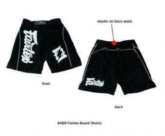 MMA BOARD SHORTS MADE BY FAIRTEX COLOR BLACK AB9