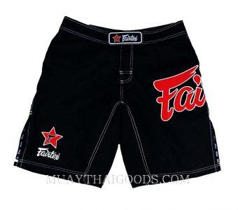MMA SHORTS TRUNKS MADE BY FAIRTEX COLOR BLACK AB1