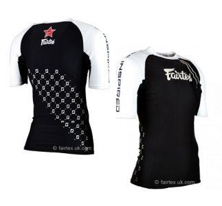 RG2 Fairtex Pro Short-Sleeves Rashguard MMA BLACK