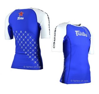 RG2 Fairtex Pro Short-Sleeves Rashguard MMA BLUE