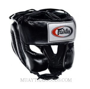 HEAD GUARDS by FAIRTEX MEXICAN STYLE HG8 BLACK LEATHER