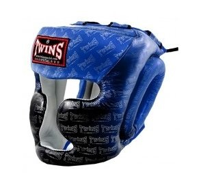 TWINS SPECIAL MUAY THAI BOXING HGL3 TW1 HEAD PROTECTION BLUE