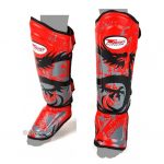 Twins Shin Pads guards Protection Dragon RED SGL10 DOUBLE PADDED
