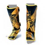 Twins Special SHIN GUARDS SLIM PADDED BLACK GOLD TW3 SGL3
