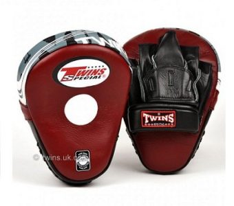 TWINS PML10 FOCUS MITTS DELUXE DARK RED LEATHER
