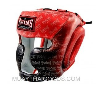 TWINS SPECIAL MUAY THAI BOXING HGL3 TW1 HEADGUARDS RED