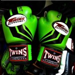 FIGHTING SPIRIT BOXING GLOVES GREEN BLACK PALM FBGV43
