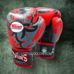 GRAPHIC BOXING GLOVES TRIBAL DRAGON FBGV36 RED TWINS
