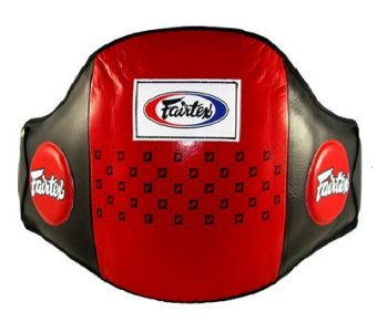 STANDARD LEATHER BELLY PAD BPV1 FAIRTEX RED