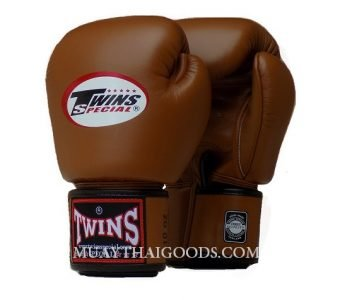 CLASSIC BROWN BGVL3 MUAY THAI GLOVES TWINS SPECIAL