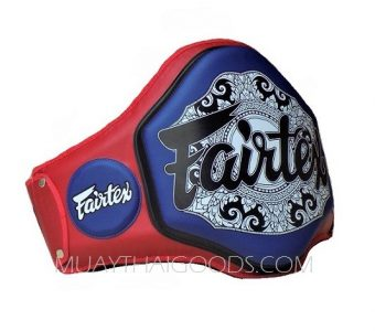 BPV3 PROTECTOR BELLY PAD MUAY THAI BOXE RED BLACK BLUE FAIRTEX