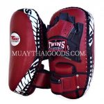 KPL 23 NEW FOREARM KICK PADS TRAINING CURVED TWINS SPECIAL BURGUNDY