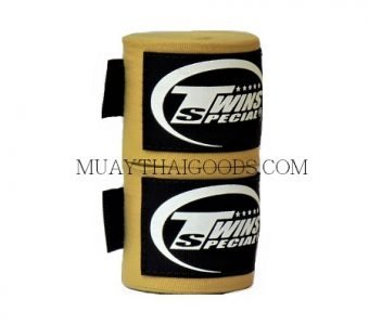 NEW MUAY THAI BOXING TWINS SPECIAL HAND WRAPS ELASTIC SAND CH5