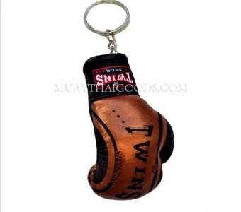 FANCY BRONZE MGB11 KEYRINGS KEYCHAIN CAR MUAY THAI KICK BOXING GLOVES TWINS SPECIAL