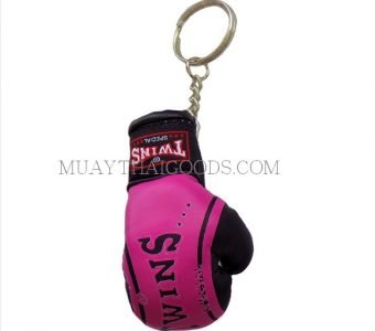 FANCY PINK MGB11 KEYRINGS KEYCHAIN CAR MUAY THAI KICK BOXING GLOVES TWINS SPECIAL