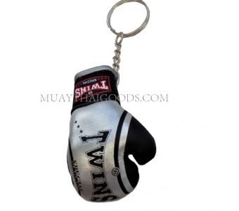 FANCY SILVER MGB11 KEYRINGS KEYCHAIN CAR MUAY THAI KICK BOXING GLOVES TWINS SPECIAL
