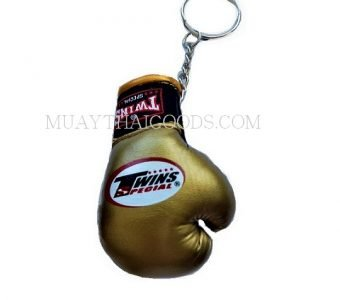 GOLD KEYRINGS CHAIN CHAINS CAR BOXING GLOVES TWINS SPECIAL
