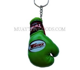 GREEN KEYRINGS KEYCHAINS CAR MUAY THAI KICK BOXING GLOVES TWINS SPECIAL