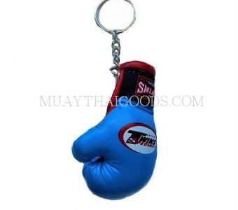LIGHT BLUE KEY RINGS CAR BOXING GLOVES TWINS SPECIAL