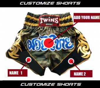 CUSTOM MUAY THAI SHORTS BY TWINS SPECIAL MODEL 2