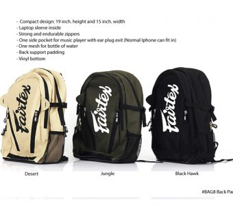 FAIRTEX BAG8 COMPACT BAG PACK