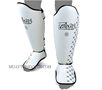 SP5 FAIRTEX - MUAY THAI BOXING SHIN GUARDS WHITE