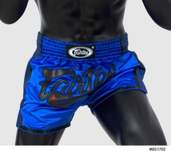 FAIRTEX MUAY THAI BOXING SHORTS SLIM CUT BLUE