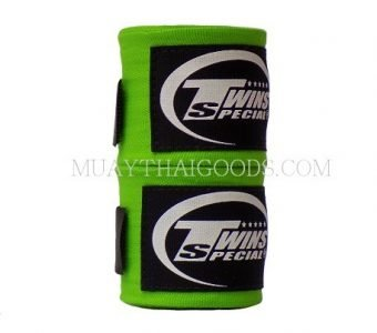 NEW MUAY THAI BOXING TWINS SPECIAL HAND WRAPS ELASTIC GREEN CH5